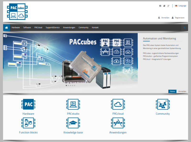 PACcubes Homepage